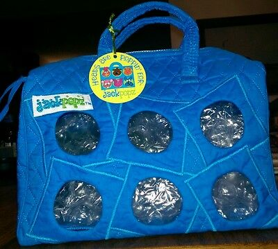 Plush Pet Carrier By Jackpopz ~ Holds 6 Webkinz Plus ~ Bright Blue New With Tags