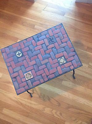 Craftsman Wrought Iron Tiled Table * Arts & Crafts, Mission, Spanish