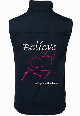 """**heels Down Clothing** """"believe"""" 2 Tone Vest, Many Colours And Sizes"""