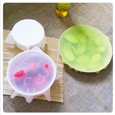 2pcs Kitchen Tool Silicone Seal Cover Reusable Keep Food Fresh Silicone Wrap LJ