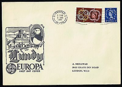 1961 Lundy Millenary Issue on FDC