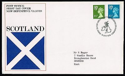 1976 Scotland definitives 8½p. & 6½p. on FDC (SG#S23-S27)
