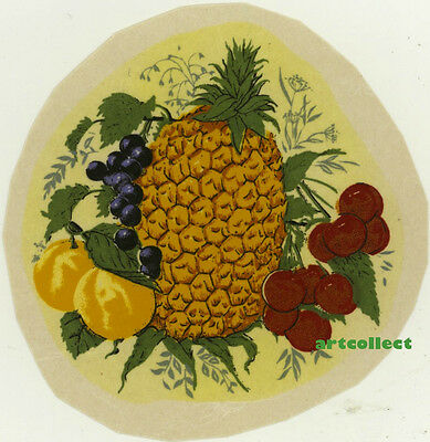 Vintage Ceramic Decal: Fruit