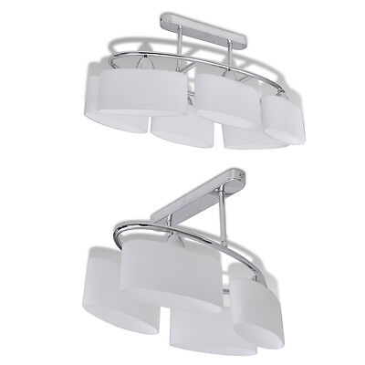 New Ceiling Lamp Ceiling Light Fixture 4/6 Ellipsoid Glass Shades Home Lighting