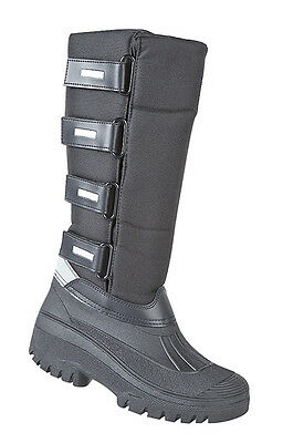 Long Mucker Equestrian Riding Boots With 4 Touch Fastening Straps