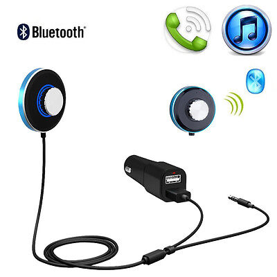 Bluetooth Hands-Free Car Kit Receiver Stereo Audio Reciver 3.5MM AUX USB Charger