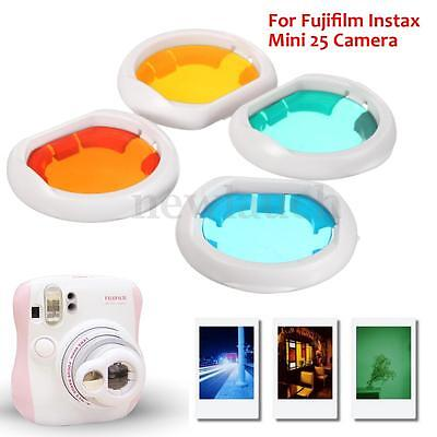 4PCS Coloré Close-up Filtre Lens Lentille Film Pr Fujifilm Instax Mini 25 Camera