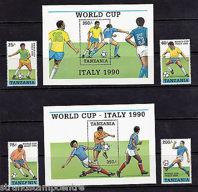 Tanzania - 1990 World Cup (1st Issue) - U/M - SG 744-7 + MS748 (2)