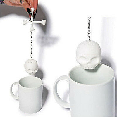 Newest Creative Tea Bones Skull Loose Leaf Leaves Lazybone Silicone Strainer