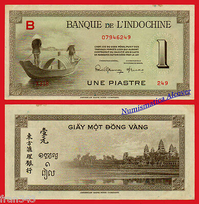 FRENCH INDOCHINA INDO-CHINA 1 Piastre 1945 Pick 76a SC- /  aUNC