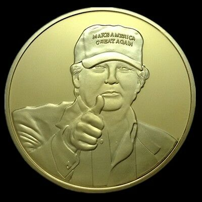 Donald Trump 2016 Presidential Gold Plated Coin