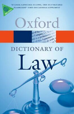 A Dictionary Of Law (Oxford Dictionary Of Law) (Oxford Paperback Re... Paperback