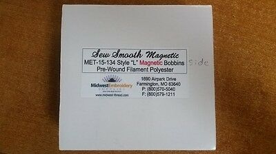 Pre Wound Pre Filled Magnetic Bobbins Size L PR Embroidery Machines 144 count