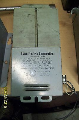 Acme Power Transformer 1 Phase Primary Volts 240 X 480,  T-2-53012-A