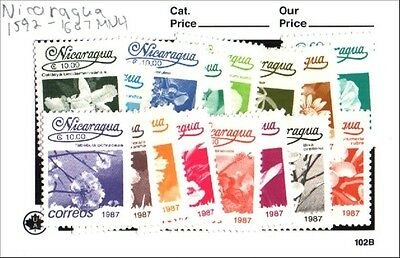Nicaragua Stamp Set Scott 1592-1607 MNH Low Combined Shipping