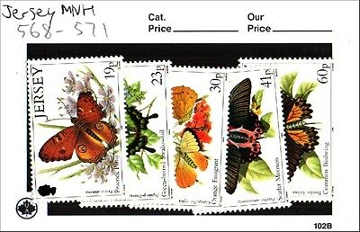 Jersey Stamp Set Scott 568-571 MNH Low Combined Shipping