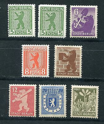 Germany Soviet Occupation Zone Berlin  Brandenburg 11N1-11N7 (8) Perfect Mnh