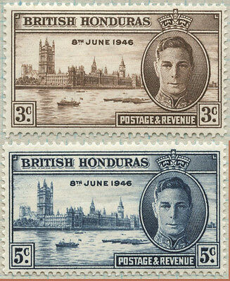 BRITISH HONDURAS  1946 -8 June VICTORY issues SET of 2- MLH  [909]