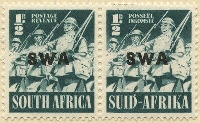 SOUTH WEST AFRICA (SWA) 1941  PAIR of 1/2d - MLH-SG114 [894]