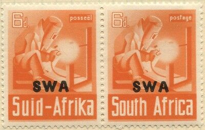 SOUTH WEST AFRICA (SWA) 1941  PAIR of  6d - MLH-SG119 cv £7.5+ [899]