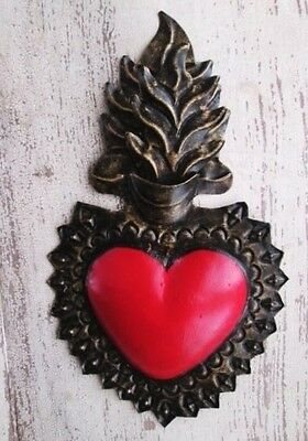 Punched Tin Sacred Heart , Mexican Folk Art, Mexican Heart