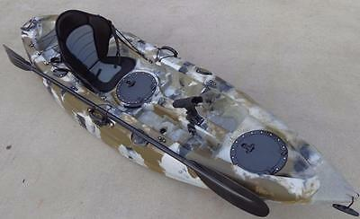 New Sierra Single Fishing Kayak Ocean Kayak Canoe Seat Paddle Desert Camo Kayak