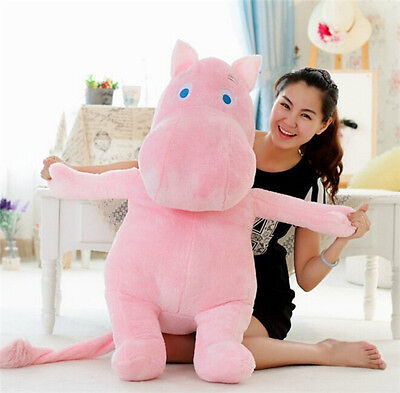 Hippo Moomin Pink White Baby Plush Toys Stuffed Doll Pillow Kids Girlfriend Gift