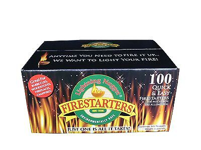 Lightning Nuggets N100SEB Firestarters Super Economy Box of Fire-Starting Nugget