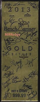 2013 Benchwarmer Gold Edition Factory Sealed Signed Box: 40+ Autographs #14/24