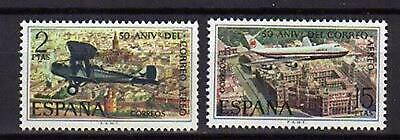 A7799) SPAIN 1971 Scott#1694/95 MNH** Air Mail Service 2v