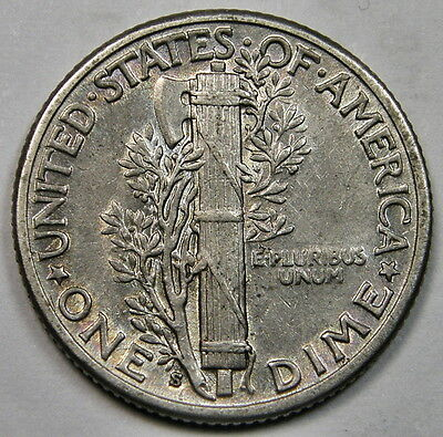 1929-S United States Of America, Silver Dime Coin