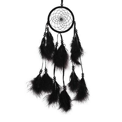 Dream Catcher Net With feather Black Hanging Wall Native Ornament Coconut Bead A