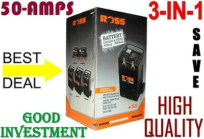 Battery Charger & Jump starter, ROSS 3-in-1, 50-amps, Aust wide service = NEW***