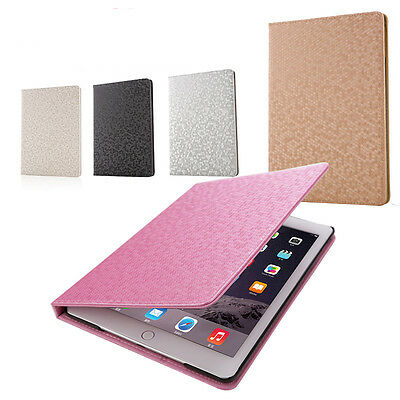 Luxury Magnetic Smart Flip Stand Genuine PU Leather Case Cover For Apple iPad