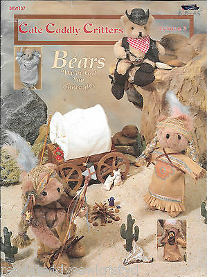 Cute cuddly critters bears we've got you covered vintage craft book clothing OOP
