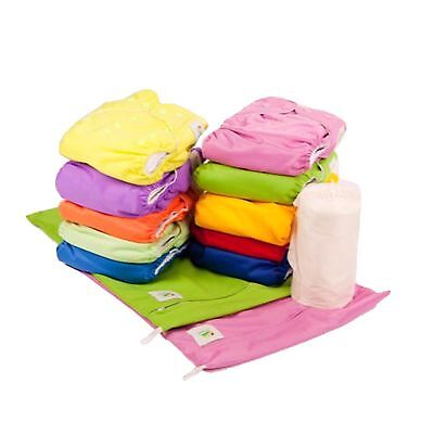10 Pack - Quality MCN Reusable EcoNappies Modern Pocket Cloth Nappies