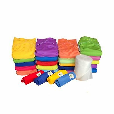 20 Pack - Quality MCN Reusable EcoNappies Modern Pocket Cloth Nappies