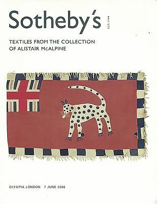 SOTHEBY'S India Africa Ghana Morocco Textile McAlpine Collection Auction Catalog
