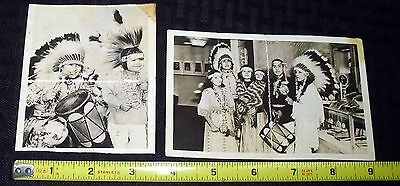 Old Vintage Native American Indian Postcard Lot (2) Very Cool Items Mra1