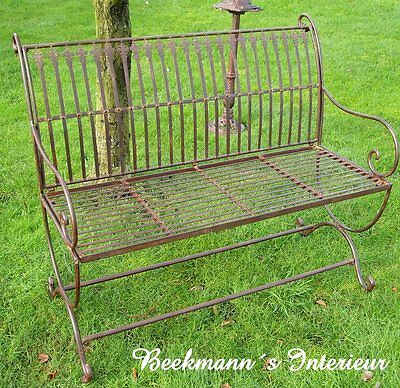 Garden Bench Vintage Country House Style New Furniture Metal Park Iron