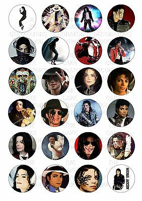 30 X MICHAEL JACKSON JACKO MIXED IMAGES EDIBLE CUPCAKE TOPPERS RICE PAPER 134