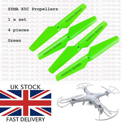 Syma X5C X5SC X5SW Propellers Blades (green) - Spare Parts for Quadcopter