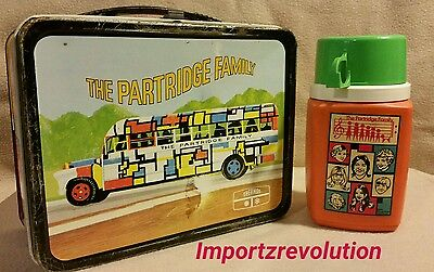 The Partridge Family Lunch Box W/Plastic Thermos Vintage 1971