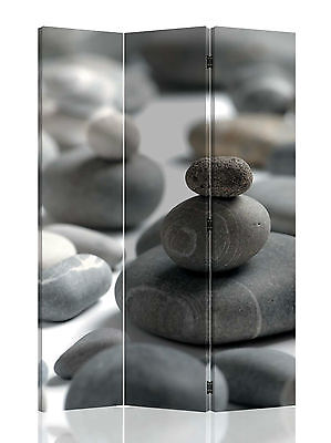 Zen Serenity Rocks Canvas Room Screen Dividers double - sided design