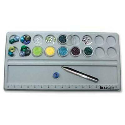"""Bead Board with Storage Space - Flocked 9.5"""" x 18"""" - fits 1.5"""" round stack jars"""