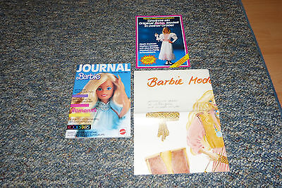 Mattel Barbie Journal/Katalog Herbst Winter 1986+Prospekt+Poster