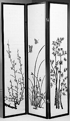 8, 6, 4 & 3 Panel Bambo Print Wood Shoji Room Divider Screen NEW