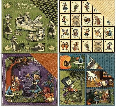 "Graphic45 Hallowe'en Double-Sided Cardstock 12"" doppels Scrappapier 30,5x30,5 cm"