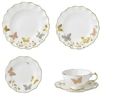 New Royal Crown Derby 2nd Quality Butterfly 30 Piece Dinner Service (Set 1)