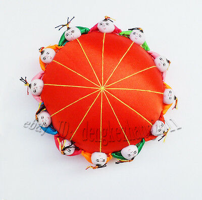 Wholesale 6 PCS Chinese Handmade Classic Silk pin Cushion with 12 cute kids